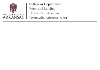 Official Stationary Style Guides And Logos University Of Arkansas - Package mailing label template